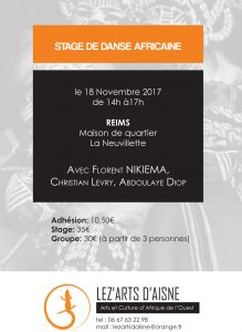 stage danse africaine 18 novembre
