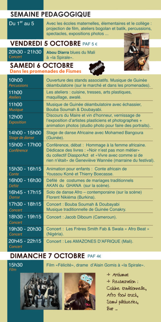 programme Africa'Fismes 2018